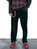 "【18AW】 SOE (ソーイ)  ""Tapered Velvet Trousers"" <ベルベットスラックス> - GREEN"