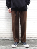 "【19AW】 soe (ソーイ)  ""Sports Slacks"" <スラックス> - BROWN"