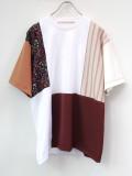 """【19SS】 soe (ソーイ)  """"H/S Swiching Fabric Tee"""" <Tシャツ/カットソー>"""