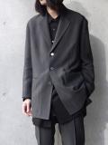 """【19SS】 soe (ソーイ)  """"3B Chambray Jacket"""" <テーラードジャケット> - GRAY"""