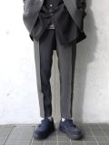 "【19SS】 soe (ソーイ)  ""Chambray Slacks Easy Fitting"" <イージースラックス> - GRAY"