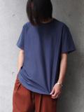 """【20SS】 soe (ソーイ)  """"ROUND HEM TALL T"""" <Tシャツ/カットソー> - BLUE"""