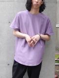 "【21SS】 soe (ソーイ)  ""ROUND HEM TALL T"" <Tシャツ/カットソー> - PURPLE"