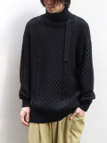 "【19AW】 tac:tac (タクタク)  ""2WAY TURTLE BELT KNIT"" <タートルネックニット>"