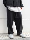 """【20SS】 UJOH (ウジョー)  """"Big Silhouette PNT"""" <パンツ/スラックス> - BLACK"""