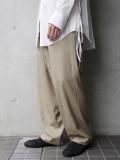 """【20SS】 UJOH (ウジョー)  """"Big Silhouette PNT"""" <パンツ/スラックス> - SAND BEIGE"""