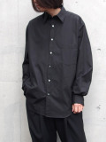 "【20SS】 UJOH (ウジョー)  ""Full Open Shirts"" <シャツ> - BLACK"