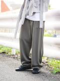 """【21SS】 UJOH (ウジョー) """"Big Silhouette PNT"""" <ワイドパンツ> - OLIVE GRAY"""
