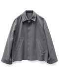"【18AW】 VOAAOV (ヴォアーブ)  ""wool cotton box jacket"" <ブルゾン/ジャケット> - GRAY"