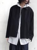 """【18AW】 VOAAOV (ヴォアーブ)  """"wool cotton box jacket"""" <ブルゾン/ジャケット> - BLACK"""