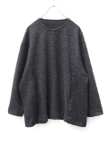 "【18AW】 VOAAOV (ヴォアーブ)  ""switching big knit"" <クルーネックニット> -  CHARCOAL GRAY"