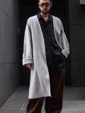 "【18AW】 VOAAOV (ヴォアーブ)  ""long cardigan"" <ニットカーディガン/ガウン> - BEIGE(杢グレー系)"