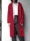 """【18AW】 VOAAOV (ヴォアーブ)  """"long cardigan"""" <ニットカーディガン/ガウン> - RED"""