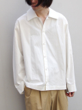 "【18AW】 VOAAOV (ヴォアーブ)  ""wide shirts"" <ワイドシャツ> - OFF WHITE"