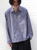 "【18AW】 VOAAOV (ヴォアーブ)  ""wide shirts"" <ワイドシャツ> - STRIPE"