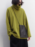 "【18AW】 VOAAOV (ヴォアーブ)  ""high-necked big knit"" <タートルネックニット> -  GREEN"
