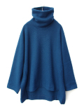 "【18AW】 VOAAOV (ヴォアーブ)  ""high-necked big knit"" <タートルネックニット> -  BLUE"