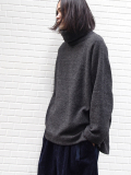"【18AW】VOAAOV (ヴォアーブ)  ""high-necked big knit"" <タートルネックニット> -  CHARCOAL GRAY"