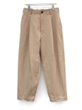 "【19AW】 VOAAOV (ヴォアーブ)  ""box pleats wide pants"" <ワイドパンツ> - BEIGE"