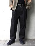 "【19AW】 VOAAOV (ヴォアーブ)  ""box pleats wide pants"" <ワイドパンツ> - BLACK"