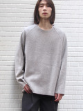 "【19AW】 VOAAOV (ヴォアーブ)  ""wool switching sweat"" <ニット/スウェット> - BEIGE(グレー系)"