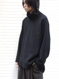 "【19AW】 VOAAOV (ヴォアーブ)  ""wool big high-necked"" <タートルネックニット> - BLACK"