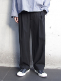 "【19SS】 VOAAOV (ヴォアーブ)  ""box pleats wide pants"" <ワイドパンツ> - BLACK"