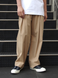 "【19SS】 VOAAOV (ヴォアーブ)  ""box pleats wide pants"" <ワイドパンツ> - BEIGE"