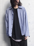 "【19SS】 VOAAOV (ヴォアーブ)  ""stripe box shirt blouson"" <シャツ/ブルゾン>"