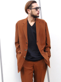 "【19SS】 soe (ソーイ)  ""3B Chambray Jacket"" <テーラードジャケット> - BROWN"