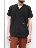 """【19SS】 VOAAOV (ヴォアーブ)  """"V-neck tee"""" <VネックTシャツ> - BLACK"""