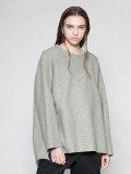 """【20AW】 VOAAOV (ヴォアーブ)  """"COMPRESSED WOOL JERSEY SWEAT """" <スウェット> - GREEN"""