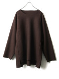 """【20AW】 VOAAOV (ヴォアーブ)  """"COMPRESSED WOOL JERSEY SWEAT """" <スウェット> - BROWN"""