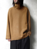 "【20AW】 VOAAOV (ヴォアーブ)  ""COMPRESSED WOOL JERSEY HIGH NECKED"" <ハイネックスウェット> - BEIGE"