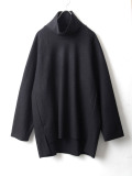 "【20AW】 VOAAOV (ヴォアーブ)  ""COMPRESSED WOOL JERSEY HIGH NECKED"" <ハイネックスウェット> - BLACK"