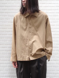 "【19AW】 VOAAOV (ヴォアーブ)  ""box shirt blouson"" <シャツ/ブルゾン> - BEIGE"