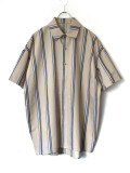 "【20SS】 VOAAOV (ヴォアーブ)  ""stripe S/S shirt"" <シャツ> - BEIGE"