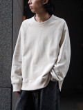 """【20AW】 VOAAOV (ヴォアーブ)  """"PILE SHAPE KNITTED SWEAT""""  <スウェット> - BEIGE"""