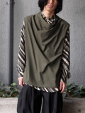 "【21SS】 VOAAOV (ヴォアーブ)  ""WASHABLE WOOL DRAPE VEST"" <ベスト> - OLIVE"