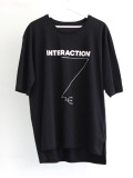 "【予約商品:2019AW】 wizzard (ウィザード)  ""PRINT CUTSEW ""INTERACTION"" <カットソー> - BLACK"