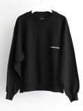 "【2019AW】 wizzard (ウィザード)  ""EMBROIDERY SHORT SWEAT"" <スウェット> - BLACK"