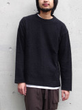 "【2019AW】 wizzard (ウィザード)  ""BRUSHED WAFFLE CUTSEW"" <カットソー> - BLACK"