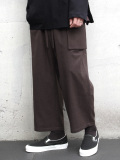 "【19AW】 wizzard (ウィザード)  ""WOOL WIDE CROPPED PANTS"" <ワイドパンツ> - BROWN"
