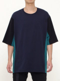 """wizzard (ウィザード)  """"COLOR PANNEL CUTSEW 19SS"""" <カットソー> - NAVY×GREEN"""