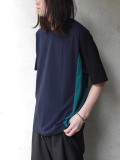 "wizzard (ウィザード)  ""COLOR PANNEL CUTSEW 19SS"" <カットソー> - NAVY×GREEN"