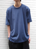 "【2020SS】 wizzard (ウィザード)  ""BASIC PLAIN T-SHIRT"" <カットソー> - NAVY"