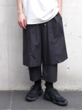 "【2020SS】 wizzard (ウィザード)  ""LAYERED PANTS 20SS"" <レイヤードパンツ> - BLACK"