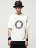 "【少量限定生産】 wizzard (ウィザード)  ""PRINT C&S  ""Oscillations Circle Again"" <プリントTシャツ/カットソー>  - WHITE"