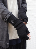 """wizzard (ウィザード)  """"LAYERED KNIT GLOVE"""" <レイヤードニットグローブ> - CHARCOAL"""