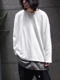 "【18SS】 wizzard (ウィザード)  ""DOLMAN CUTSEW <カットソー> - LIGHT GRAY"